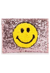 Carteira Feminina Porta Cartão Smile Glitter Marisa