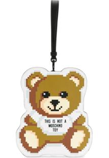 Moschino Clutch Toy Bear - Marrom