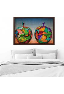 Quadro Love Decor Com Moldura Maã§Ã£S Em Pop Art Madeira Escura Mã©Dio - Multicolorido - Dafiti