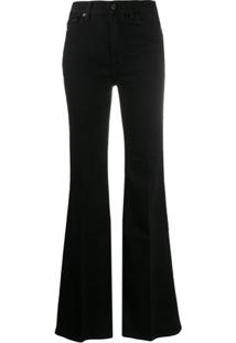 7 For All Mankind Calça Jeans Flare Cintura Alta - Preto