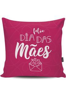 Capa Para Almofada Feliz Dia Das Mães- Rosa & Brancastm Home