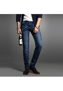 Calça Jeans Masculina Slim - Azul Escuro