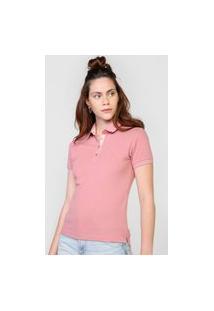 Camisa Polo Polo Wear Logo Rosa