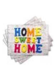Jogo Americano - Home Sweet Home Com 4 Peças - 949Jo