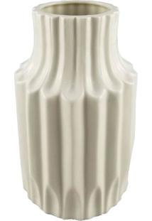 Vaso De Cerã¢Mica Branco Com Desenhos Em Textura - Incolor - Dafiti