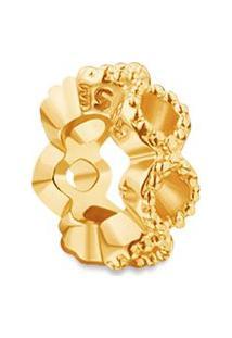 Pingente Life Navete Shine Com Banho Ouro Amarelo