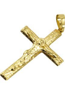 Pingente Cruz Tudo Jã³Ias Folheado Dourado - Amarelo/Dourado - Dafiti