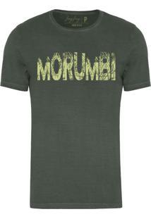 Camiseta Joss Masculina Estonada Morumbi Verde Escuro