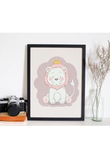 Quadro Decorativo Infantil Leão Baby