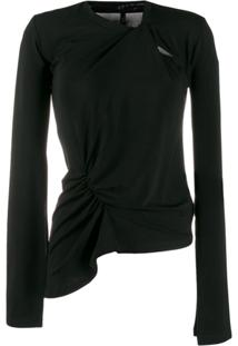 Unravel Project Blusa Assimétrica - Preto