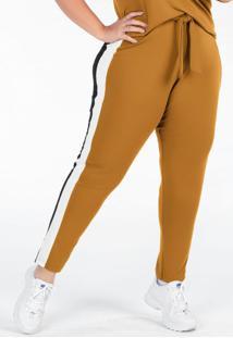 Calça Plus Size Mostarda Com Amarração