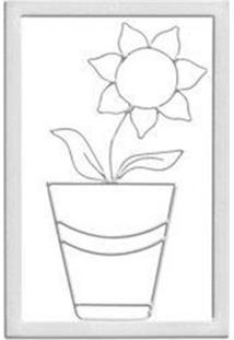 Quadro Decorativo Girassol Branco