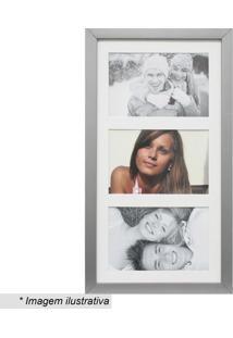 Painel Multifotos Insta- Prateado & Branco- 38X21Cmkapos