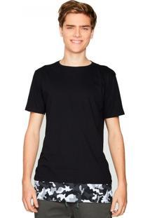 Camiseta Alongada Barra Camuflada
