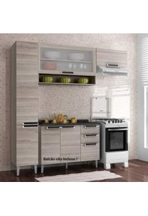 Cozinha Compacta Sem Balcão 3 Peças Itatiaia Coimbra Bege