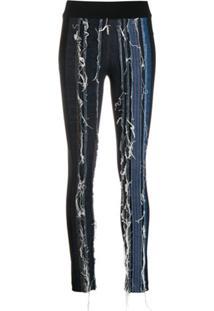 No Ka' Oi Calça Jeans Com Aplicação - Preto