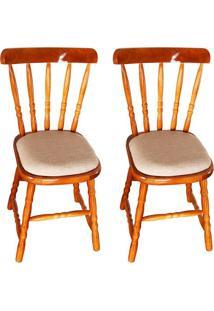 Conjunto Com 2 Cadeiras Dalas Mel