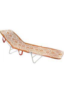 Cadeira Espreguiçadeira Dobrável Mormaii - Laranja