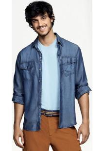 Camisa Jeans Masculina Hering Slim Special Denim