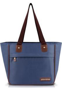 Bolsa Shopper Lisa Jacki Design Essencial Iii Azul Marinho - Azul Marinho - Dafiti