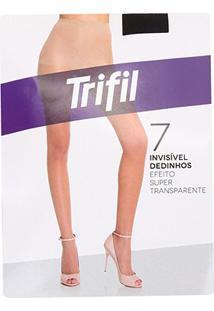 Meia Calça Trifil Dedinhos Fio 7 Feminina - Feminino-Preto