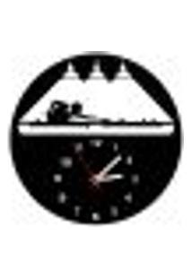 Relógio De Parede Decorativo - Modelo Jogador De Bilhar