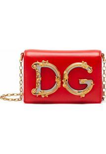 Dolce & Gabbana Pochete Dg Com Aba - Vermelho