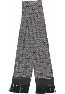 Dolce & Gabbana Lenço De Seda Com Franjas - Preto
