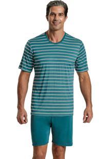 Pijama Recco Microfibra Verde - Verde - Feminino - Dafiti