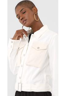Jaqueta Sarja Desigual Ilhoses Off-White