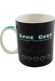 Caneca Magic Game Over Geek10 - Preto