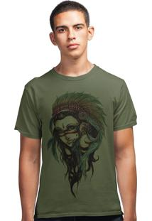 Camiseta Artseries India Cocar Verde