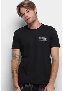 Camiseta Ellus Cotton Fine Greantest Hits Classic Masculina - Masculino-Preto
