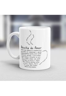 Caneca Porcelana Wevans Receita Do Amor