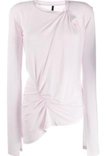 Unravel Project Blusa Assimétrica - Rosa