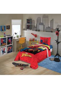 Edredom Solteiro Estampado Lepper Spider Man 150X200Cm 1 Peça
