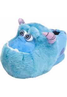 Pantufa 3D Sulley Monstros S.A Ricsen - Unissex-Azul