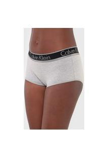 Calcinha Calvin Klein Underwear Caleçon Logo Cinza