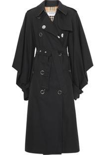 Burberry Trench Coat Pelerine - Preto