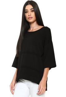 Blusa Finery London Benmore Knitted Tee Preta