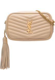 Saint Laurent Bolsa Transversal Ysl Mini - Neutro