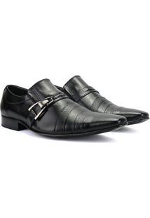 Sapato Social Bigioni Em Couro Legítimo - Masculino-Preto
