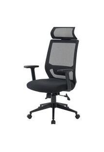 Cadeira Genebra Presidente Preta Regulável 126Cm - 58460 Preto