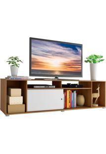 Rack Para Tv Até 65 Polegadas Madesa Cancun - Rustic/Branco