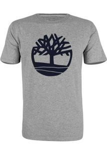 Camiseta Timberland Masculina Kennebec Rvr Tree - Masculino-Cinza+Azul