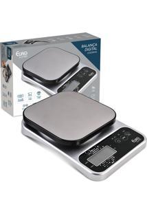Balança Digital Euro Home Para Cozinha 5Kg Inox