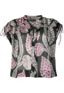 Isabel Marant Printed Sleeveless Blouse - Preto