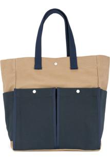 Cabas Botanical Tote Bag - Neutro