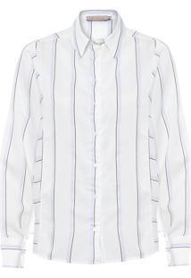 Camisa Feminina Pesponto - Off White