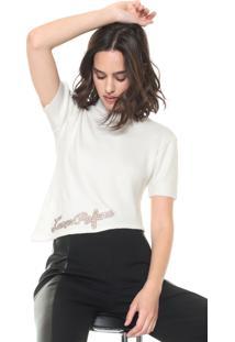 Blusa Lança Perfume Tricot Assimétrica Off-White